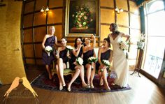 Bride laughing with her bridesmaids at the Don Vicente in Ybor, Tampa.