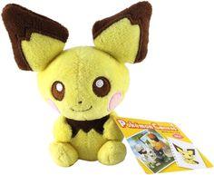 Pokemon Center Plush Doll Canvas Pichu 피츄. shopper plastic bag With gifts #PokemonCenter