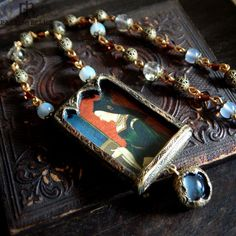 Mary of Burgundy  Triptych Arch Pictorial Amulet by ParrishRelics