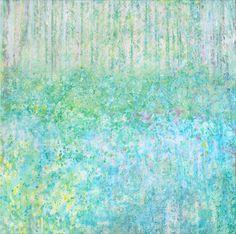 Iris Grace Painting Bluebells Giclee Print