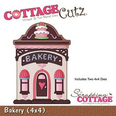 Cottage Cutz-4x4 Dies-Bakery (double die) Item Number: COT-4x4-151D Your Price: $34.95