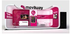 MOMA crea para Movilway el concepto, el diseño y el desarrollo gráfico de un escaparate de gran visibilidad para  el Congreso de Móviles de Barcelona 3GSM 2012, así como todos los materiales de visual merchandising.