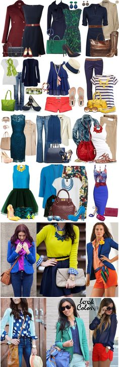 Сочетание синего цвета в одежде Синий цвет в последнее время стал одним из самых популярных оттенков для создания сочетаний. Одним из самых привлекательных: сочетание синего с белым, с белым и красным, с коричневым и зеленым. У синего много оттенков. Самыми популярными являются темно-синий и роял. Темно синий образует прекрасную пару с белым, бежем, бордовым, зеленым, коралловым. Роял предпочитает желтый, зеленый, красный, белый, мадженту и оранжевый.