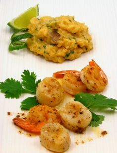 Thai Spice Infused Risotto Recipe with Sauteed Scallops and Shrimp Paired with Tilia Torrontes, Argentina  http://www.nataliemaclean.com/blog/thai-spice-infused-risotto-recipe-with-sauteed-scallops-and-shrimp-paired-with-tilia-torrontes-argentina/#.VyB7jj_sai4 #wine