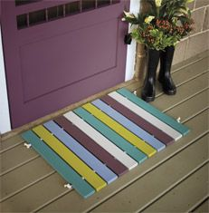Create a unique, personalized doormat customized with your choice of wood stain colours. Simple to create and easy to change, this one-of-a-kind piece of art works hard to greet your guests with a great impression. Beauti-Tone paint kids home decor - DIY