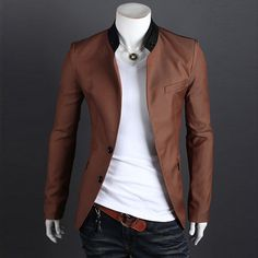 Collection Mens Slim Fit Blazer Jackets Pictures - Reikian