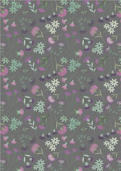Thistle Floral on Gray, Celtic Blessings, Lewis & Irene, fabric by the yard, floral Purple and gray Purple Christmas, Christmas Fabric, Thistle Wallpaper, Scottish Flowers, Woodland Fabric, Etsy Fabric, Purple Fabric, Paper Background, Purple Flowers