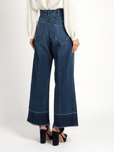 Legion frayed-edge wide-leg jeans | Rachel Comey $345 + $52 international shipping Chile