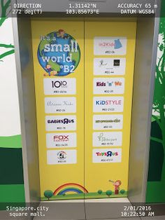 Store Names at a single glance on Elevator Doors   Brand-Name Doors Elevator Singapore Transportation