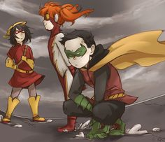 Damien Wayne, Irey West, and Lian Harper.    I wish this is a thing that could happen.
