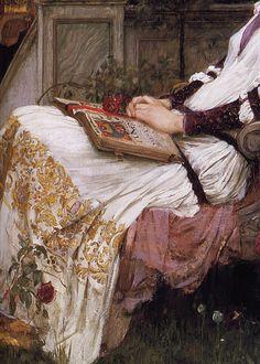 seabois: 1895 John William Waterhouse (English Pre-Raphaelite; 1849-1917) ~Saint Cecilia [detail]