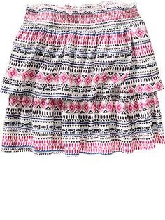 Girls Tiered Skirts   Old Navy Size S   Late Summer 2015