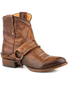 Roper Women's Brown Selah Booties - Round Toe , Brown Short Cowgirl Boots, Cowboy Boots Women, Short Boots, Western Boots, Ankle Cowboy Boots, Western Wear, Riding Boots, Bike Boots, Country Boots