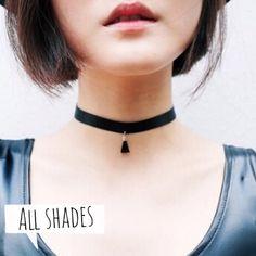 Black suede tassel chocker necklace Brand new! Jewelry Necklaces