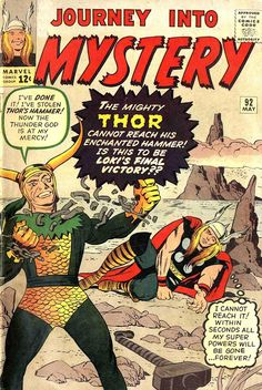 Comic Book Critic - Google+ - Journey Into Mystery #92 (May '63) cover by Jack Kirby.