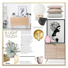 """a light touch"" by eyesondesign ❤ liked on Polyvore featuring interior, interiors, interior design, home, home decor, interior decorating, interiordesign and TastemastersDesignGroup"
