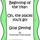 """This activity, based on Dr. Seuss's """"Oh, the places you'll go!"""" helps students to begin thinking about and setting goals for the year.  The activit..."""