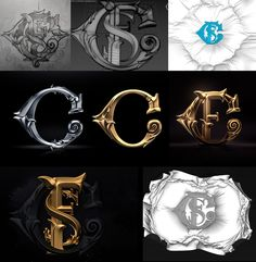 it's those three letters at the top. Fancy silverware can also be imprinted with a monogram, as can gold and silver jewelry. Tattoo Lettering Fonts, Cool Lettering, Typography Logo, Lettering Design, Game Design, Icon Design, Schrift Design, Calligraphy Text, Game Logo