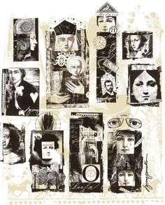 One more Lynne Perrella piece.  Love the collage.