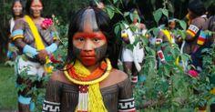 Imagens da Semana de 9 a 15 de junho de 2012 - Índios na Rio+20