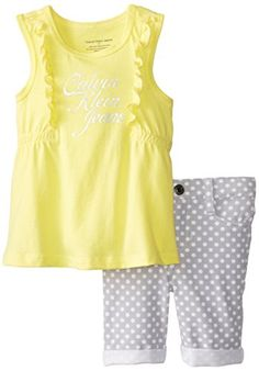 Calvin Klein Little Girls' Top with Bermuda Shorts, Yellow, 3T Calvin Klein http://www.amazon.com/dp/B00NFK9MFG/ref=cm_sw_r_pi_dp_JHUNub18TBRMP