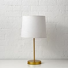 The unassuming style of this accent lamp helps ensure it will be around the house for many years to come. Easily coordinates with different décors, making it a perfect fit for any room. Kids Lighting, Shop Lighting, Desk Lamp, Table Lamp, Light Year, Interior Inspiration, Bedroom Inspiration, Light Table, Crate And Barrel