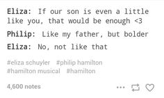 Yeeeaaah, not sure Eliza meant she wanted Philip to be so bold he plans a threesome with random girls, challenges a guy to a duel, and DIES. Hamilton Lin Manuel, Lin Manuel Miranda, Alexander Hamilton, Aaron Burr, Hamilton Musical, And Peggy, What Is Your Name, Dear Evan Hansen, Theatres