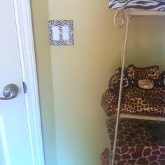 Animal print room..?? Use zebra duck tape on light switches.