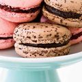 Chocolate Macarons with ganache filling. Macarons are SO good! But a friend who made them said they are pretty difficult to get right.
