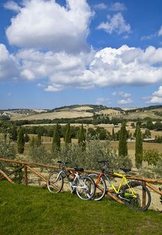 Bicycle through Tuscany, staying in wonderful small towns.