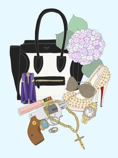 EmmaKisstina Illustrations by Kristina Hultkrantz: What's in MY bag?