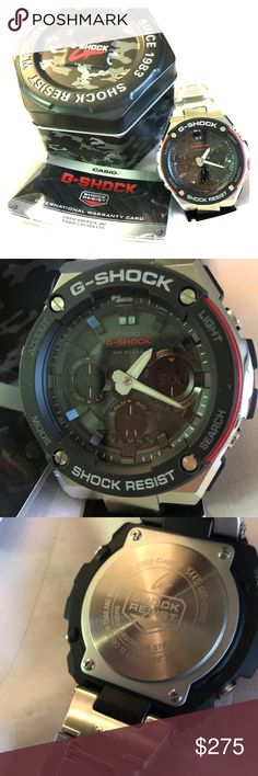 Men's Watch BNWT, shock resistance, authentic, with box & documents, stainless still.  Is a gorgeous watch. G-Shock Accessories Watches