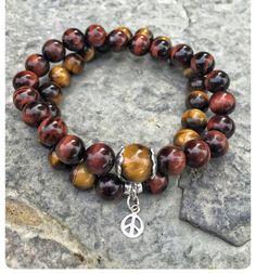 Bracelet superposable pierres fines oeil de par SAUCHAinspirations