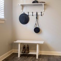 Revamp your entryway with some stylish storage options. Our White Entryway Shelf Coat Rack and Bench Set gives you everything you need to organize your space. Entryway Shelf, Entryway Furniture, Home Furniture, Rustic Entryway, Accent Furniture, Foyer, Bench Set, Bench With Storage, Storage Benches