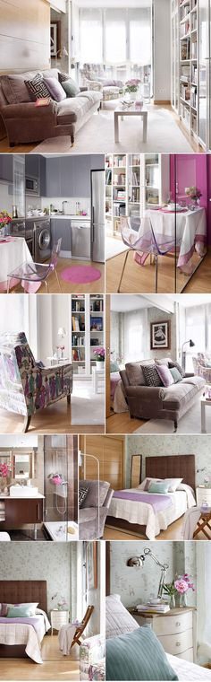 Best studio apartment even. pink and tiny apartment, only 120 sq. ft.