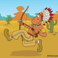 Cartoon Native American