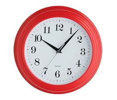 Features: Wall clock Material: Plastic Requires 1 x AA battery Dial Colour: Black Dial Colour: Red Dial Colour: White Product Type: Wall Sil Wall Clocks Uk, Red Wall Clock, London Clock, Plastic Glass, Gold Wood, Vintage Metal, Soft Furnishings, Decorative Accessories, Bathroom Accessories