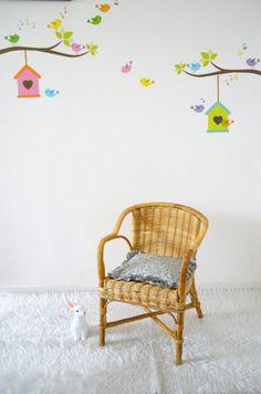 fauteuil rotin/osier enfant, rattan,armchair, avec coussin en Liberty de la boutique atelierdelachoisille sur Etsy