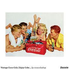Vintage Coca-Cola | Enjoy Coke With Friends Postcard