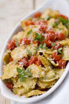 Ravioli patate, basilico e pecorino