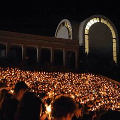 One of the best parts about Welcome Week is sharing some of our favorite ACU traditions with the incoming class, including Candlelight Devo (pictured).