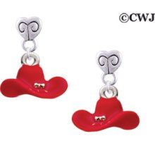 Red Cowboy - Mini Heart Post Earrings