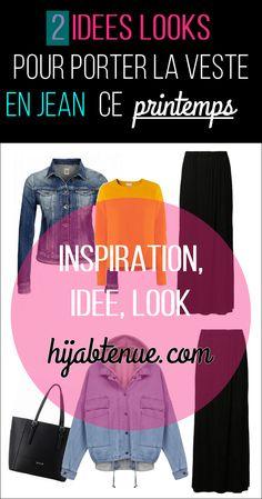 2 hijab styles to wear denim jacket this spring!