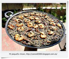 Mi pequeño rincon: Paella de arroz negro
