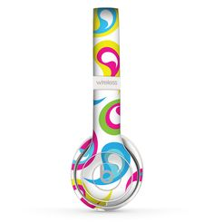The Colorful Swirl Pattern Skin Set for the Beats by Dre Solo 2 Wireless Headphones