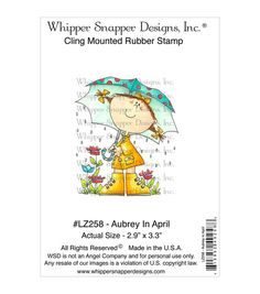 Whipper Snapper Designs Cling Stamp-Aubrey In April
