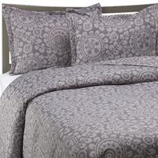 Kas Trinity Full/Queen Quilt - Grey - Bed Bath & Beyond