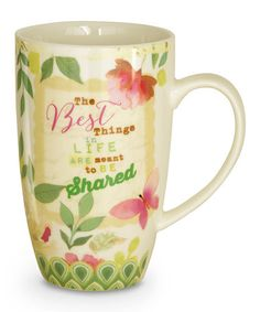 'Best Things' Mug & Decorative Tin #zulily #zulilyfinds