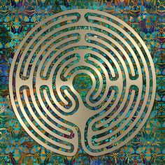Labyrinth Art - A design patterned after the turf labyrinth at Hilton Village Green, Cambridgeshire