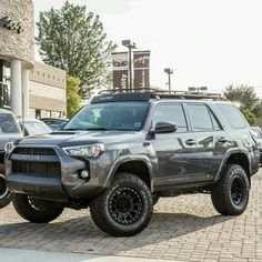 2017 Toyota row with TRD Pro Front end Toyota Trd Pro, Toyota Trucks, Toyota Tacoma, Peterbilt Trucks, 4x4 Trucks, Ford Trucks, Toyota 4runner Trd, Lifted 4runner, Overland 4runner